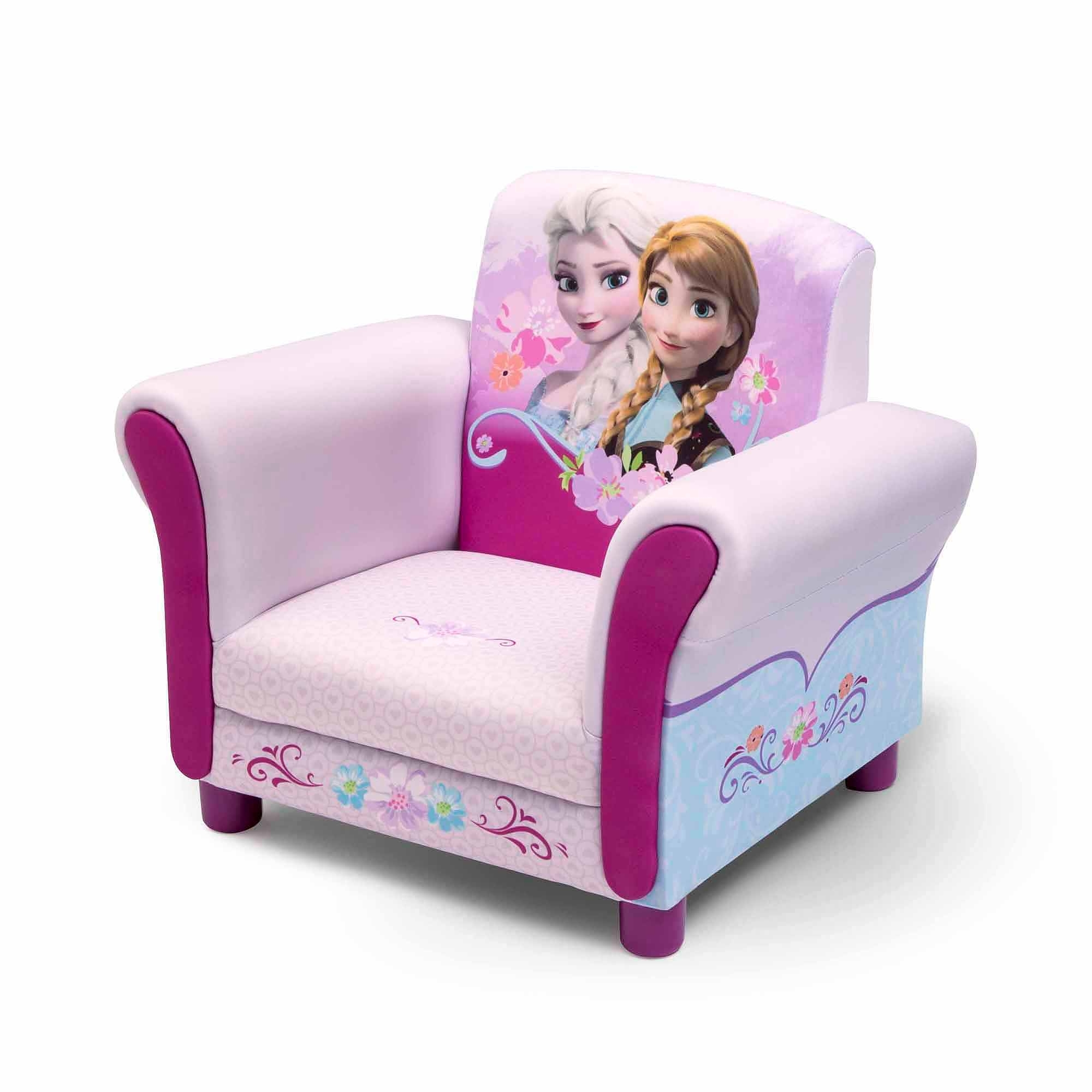 Most Popular Disney Sofa Chairs Pertaining To Disney Frozen Upholstered Chair – Walmart (View 3 of 15)