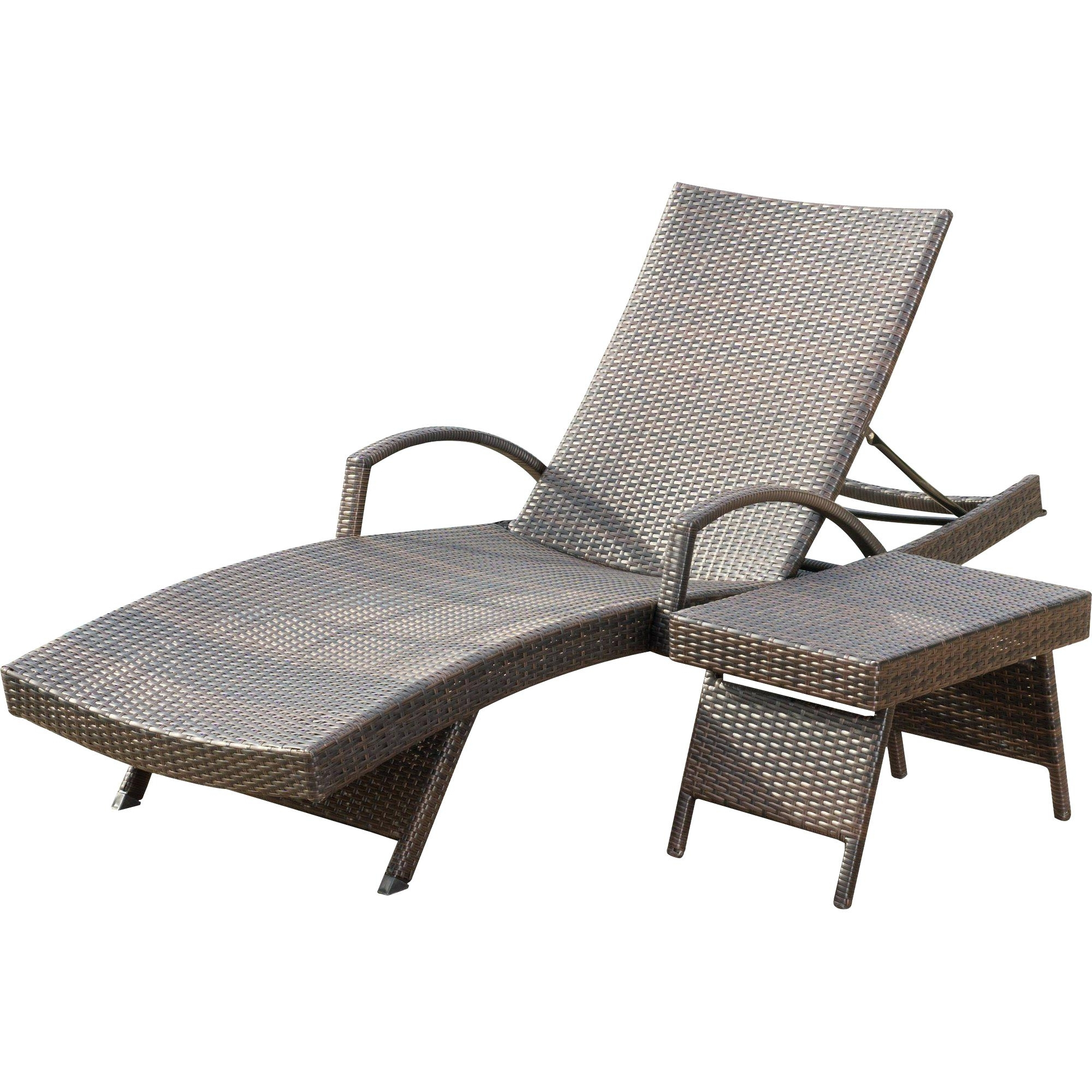 Featured Photo of Eliana Outdoor Brown Wicker Chaise Lounge Chairs