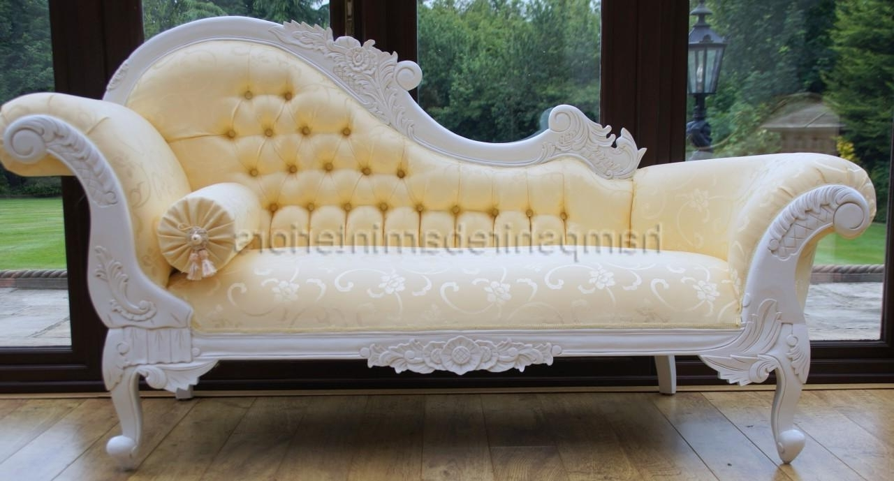 Most Popular French Chaise Lounges Intended For Furniture Chaise In French Vintage Leather Chaise Lounge Vintage (View 11 of 15)