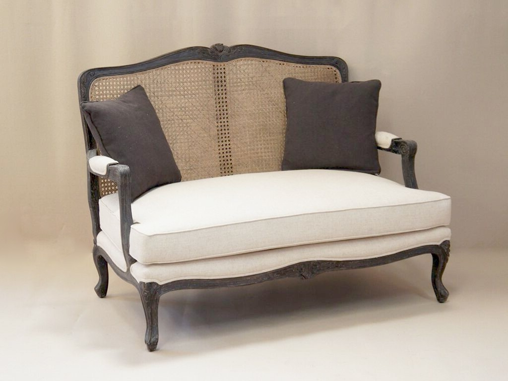Most Popular French Style Sofas Pertaining To Louis French 2 Seater Sofa With Rattan Back (View 3 of 15)