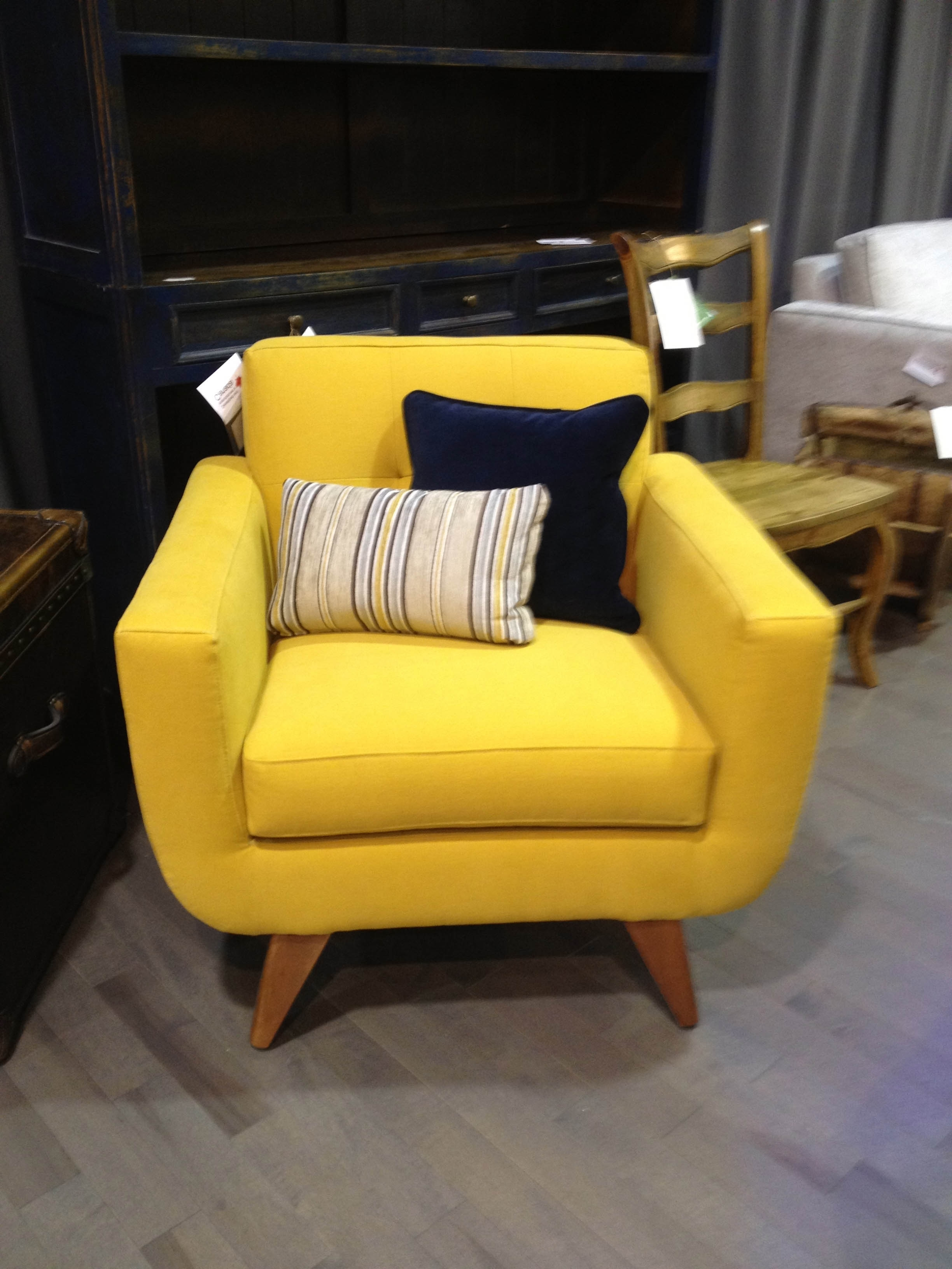 Most Popular Full Size Of Yellow Base Chair Sofa Single Piece Wood Legs Dark Throughout Yellow Sofa Chairs (View 2 of 15)