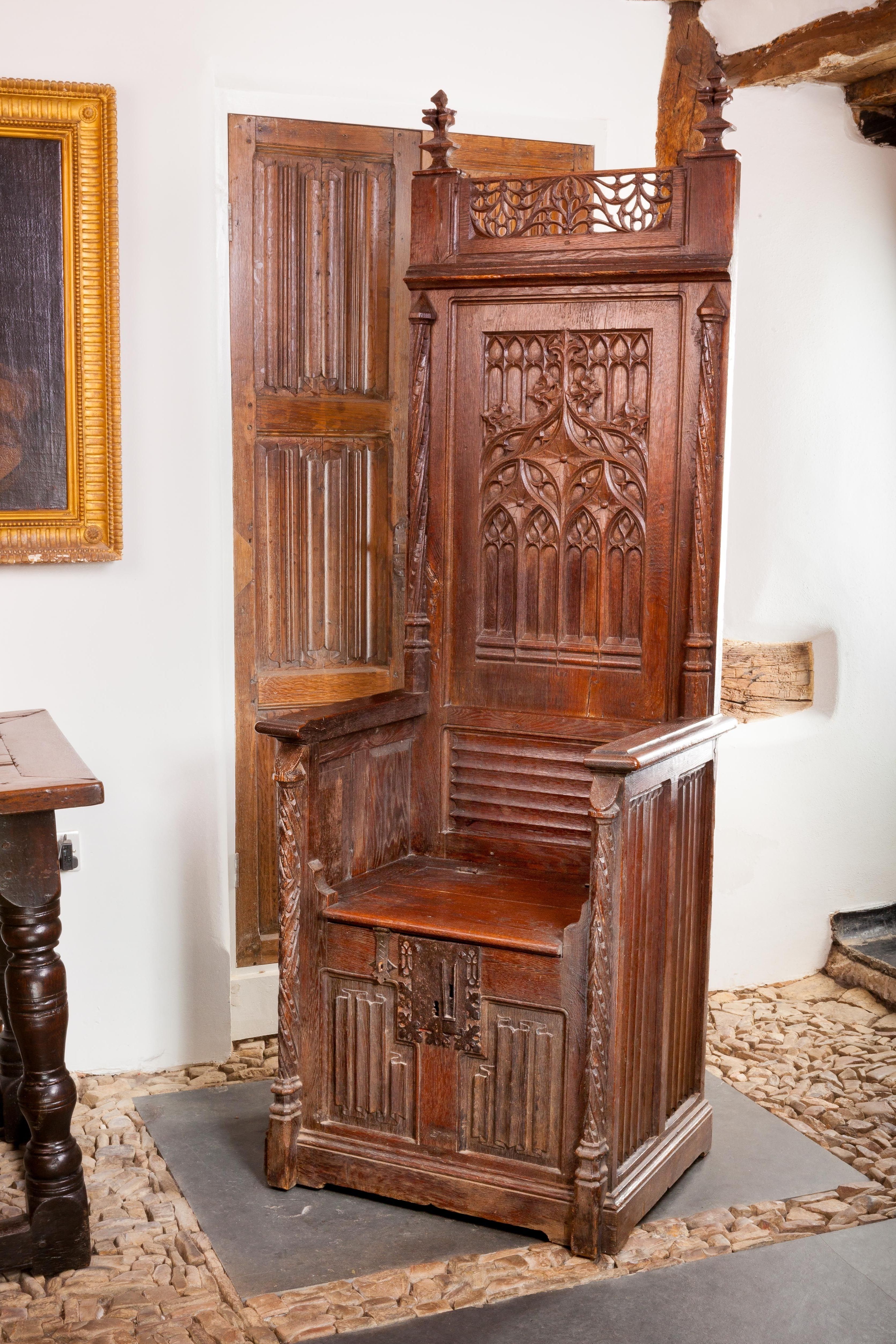 Most Popular Gothic Sofas Regarding Gothic Throne Chair, Circa 1460 – 1480, Marhamchurch Antiques (View 12 of 15)