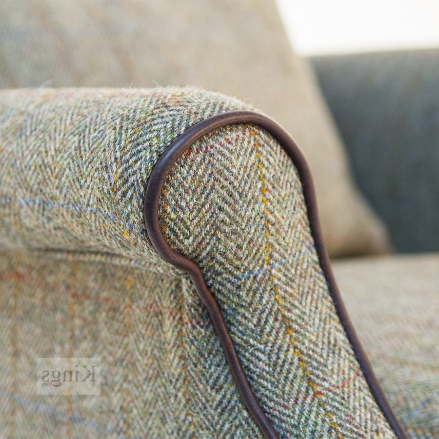 Most Popular Harris Tweed Bowmore Chair In Tweed Fabric Sofas (View 9 of 15)