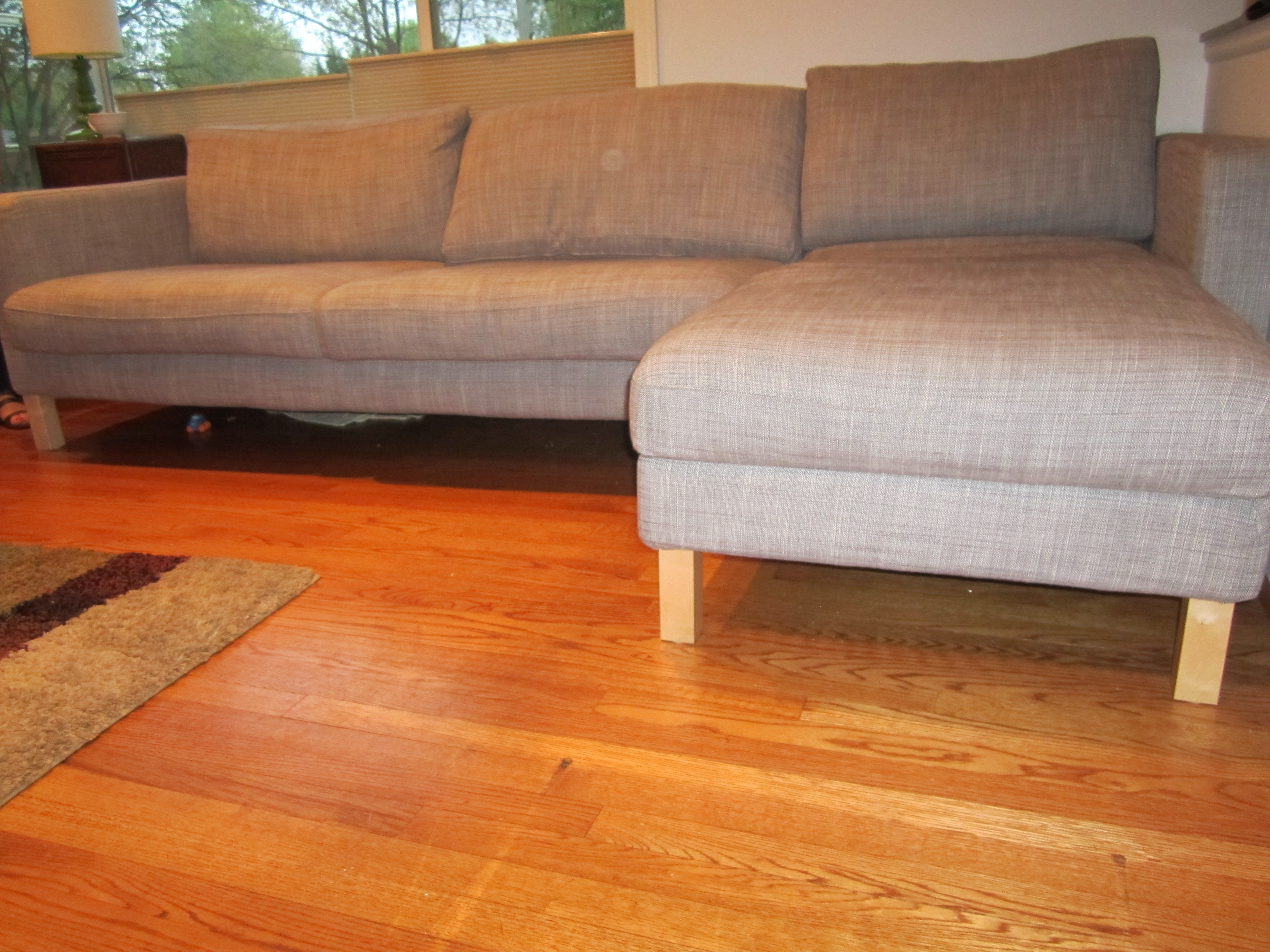 Most Popular Ikea Karlstad Couch Hack – My Mid Century Modest Ranch Make Over For Ikea Karlstad Chaises (View 8 of 15)