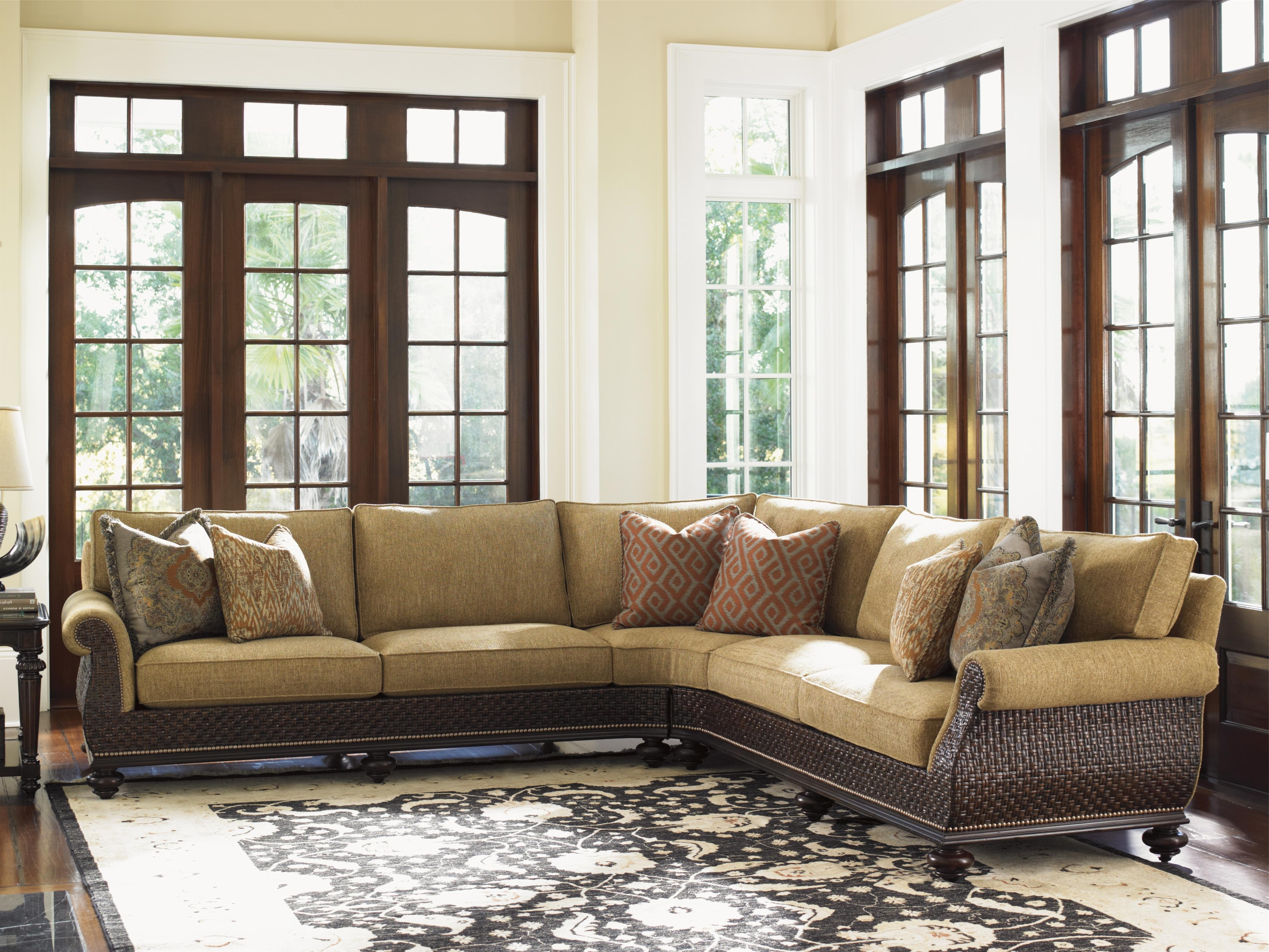 Most Popular Kitchener Sectional Sofas Inside Tommy Bahama Home Island Traditions Westbury Sectional Sofa With (View 15 of 15)