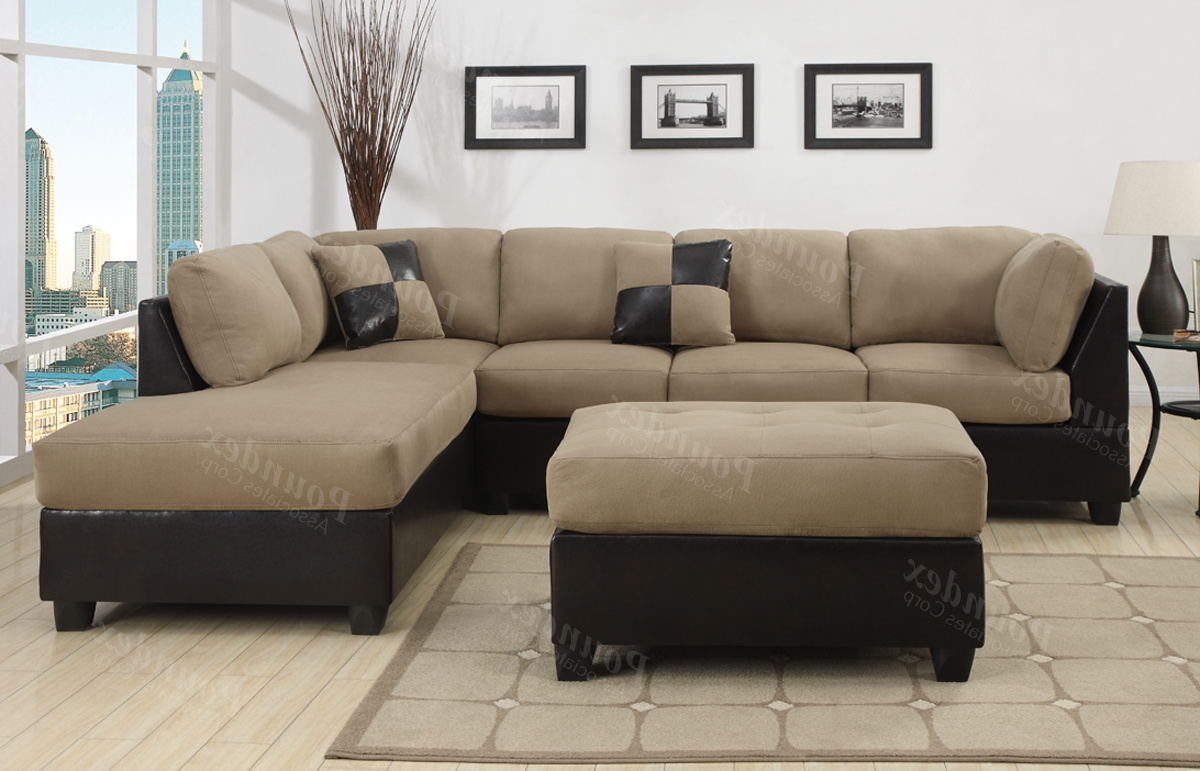 Most Popular Leather And Suede Sectional Sofas Intended For Fabric Sectional Fabric Ashley Furniture Sectional Sectional Sofas (View 15 of 15)