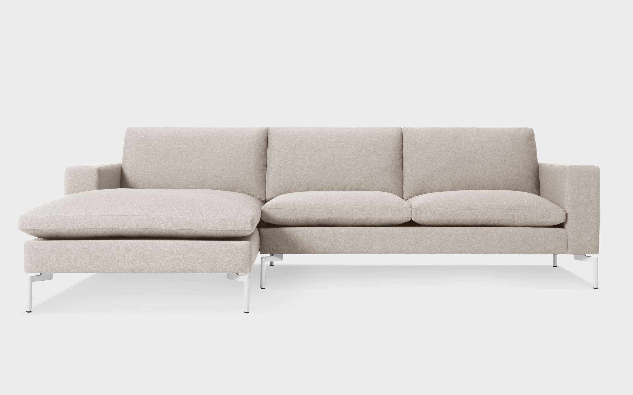 Most Popular New Standard Modern Fabric Sofa W/ Right Chaise (View 5 of 15)