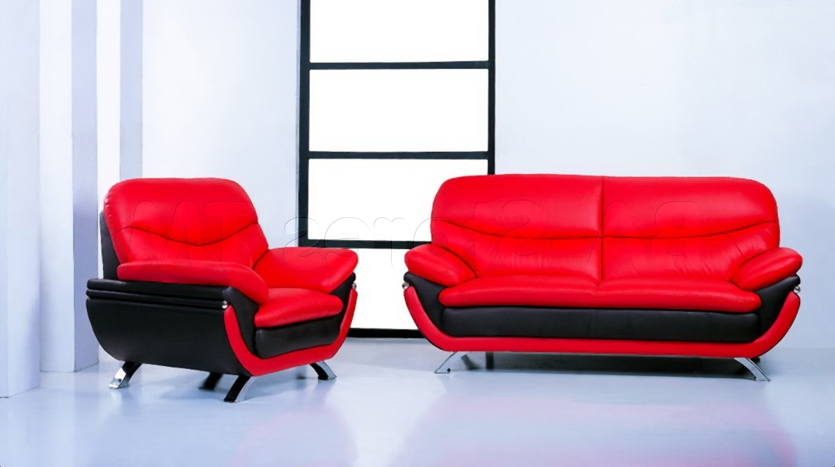 Most Popular Red Leather Couches And Loveseats In Sofa Red Leather – Radkahair (View 3 of 15)