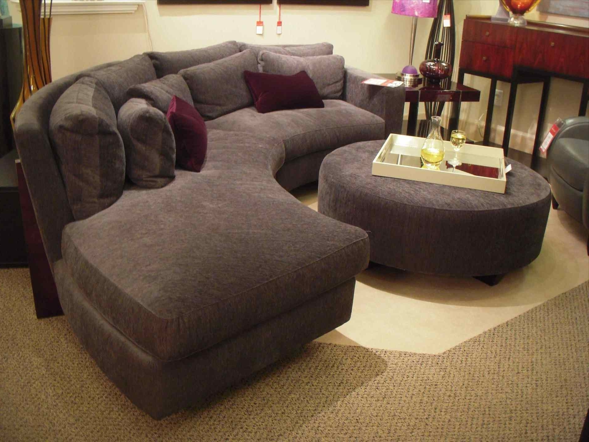 Most Popular Round Sofas Throughout Couch : Wonderful Antique Studio Leather Round Couch Chair Sofa (View 6 of 15)