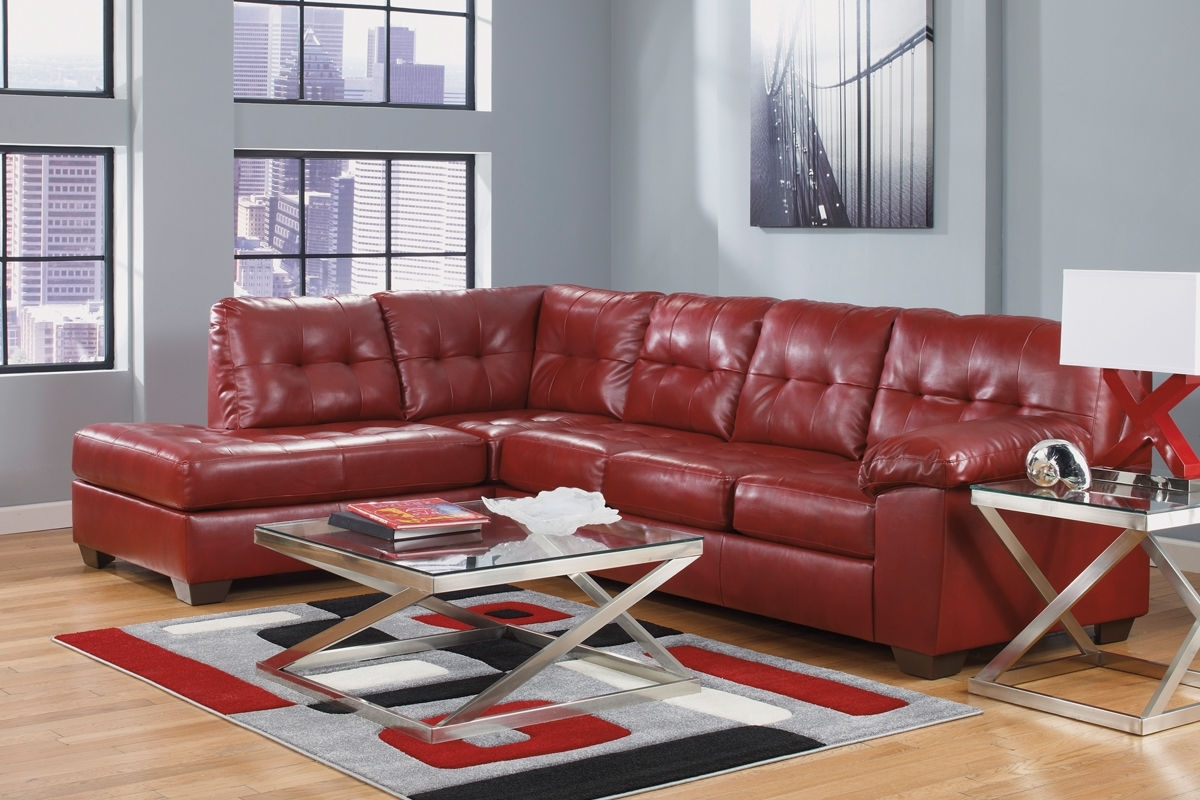 Most Popular Salsa Bonded Leather Sectional At Gardner White With Regard To Leather Sectional Chaises (View 14 of 15)