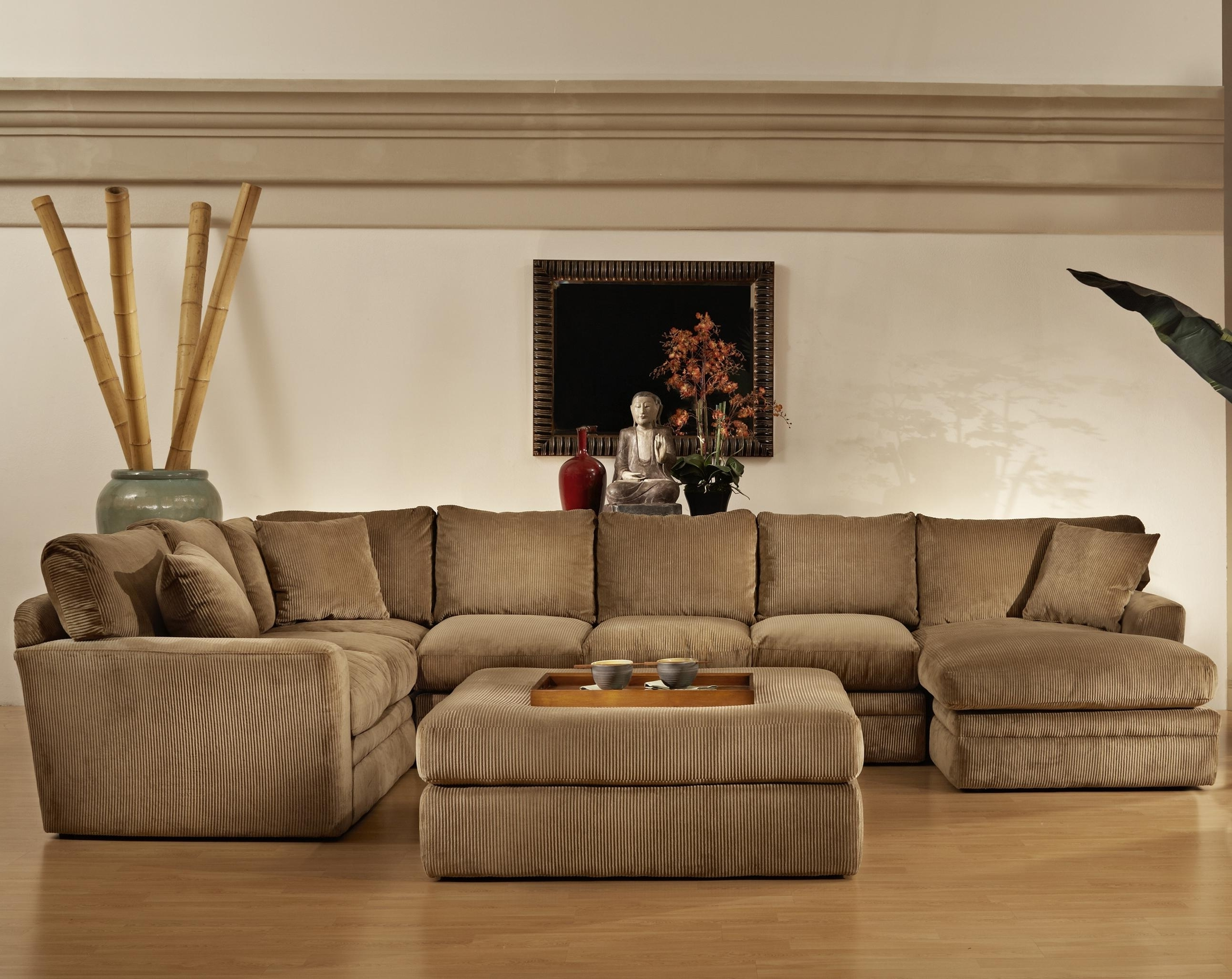 Most Popular Sectional Sofas With Chaise And Ottoman Intended For Extra Large Sectional Sofa With Chaise And Ottoman U Shaped In (View 8 of 15)