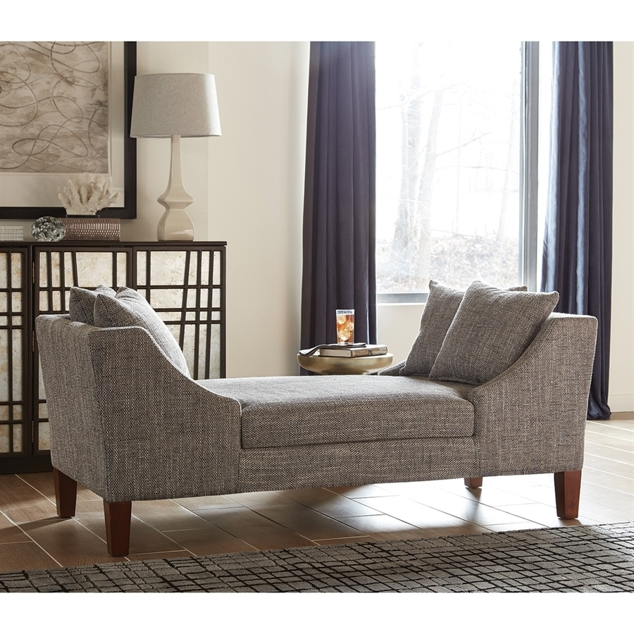 Most Popular Shop Scott Living Midcentury Gray Chaise Lounge At Lowes Pertaining To Living Room Chaises (View 2 of 15)