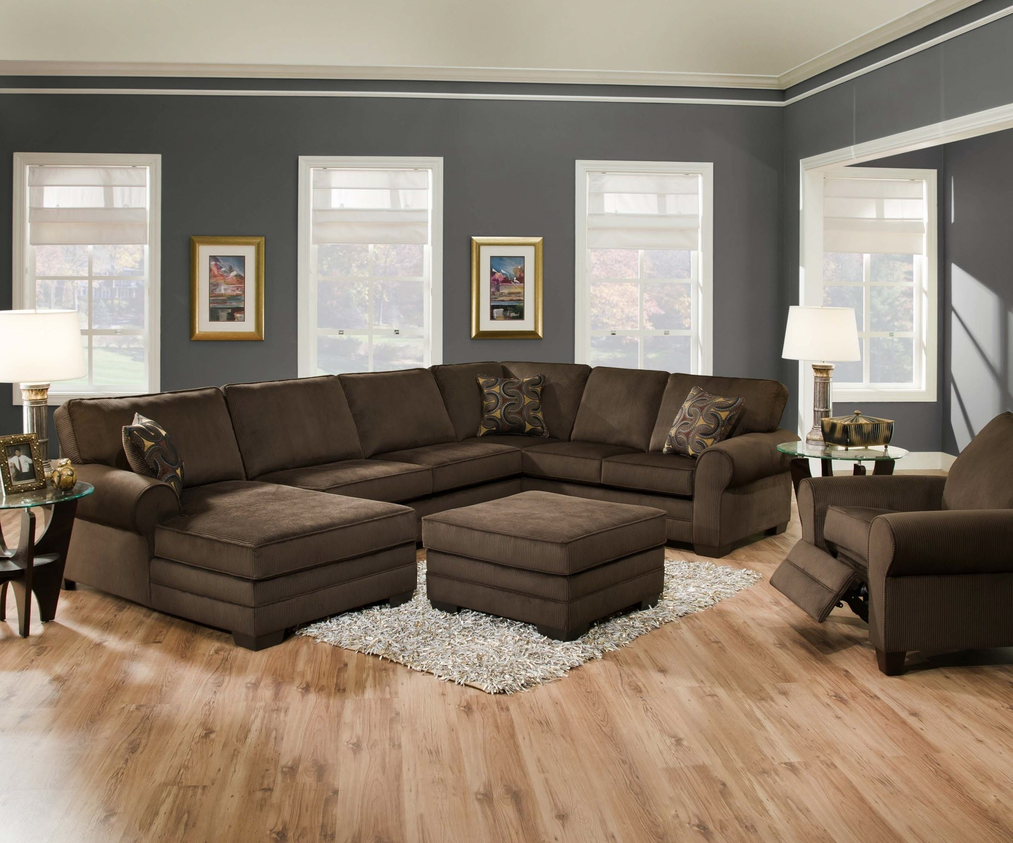 Most Popular Simmons Chaise Sofas In Designssimmons – Simmons Deluxe Beluga Sectional (View 5 of 15)