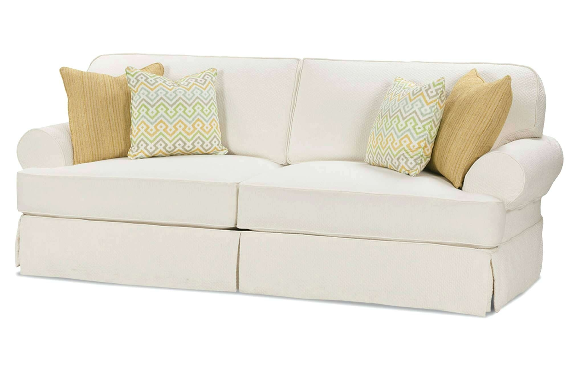 Most Popular Slipcovers Sofas Pertaining To Slipcover For Sectional – Biophilessurf (View 10 of 15)