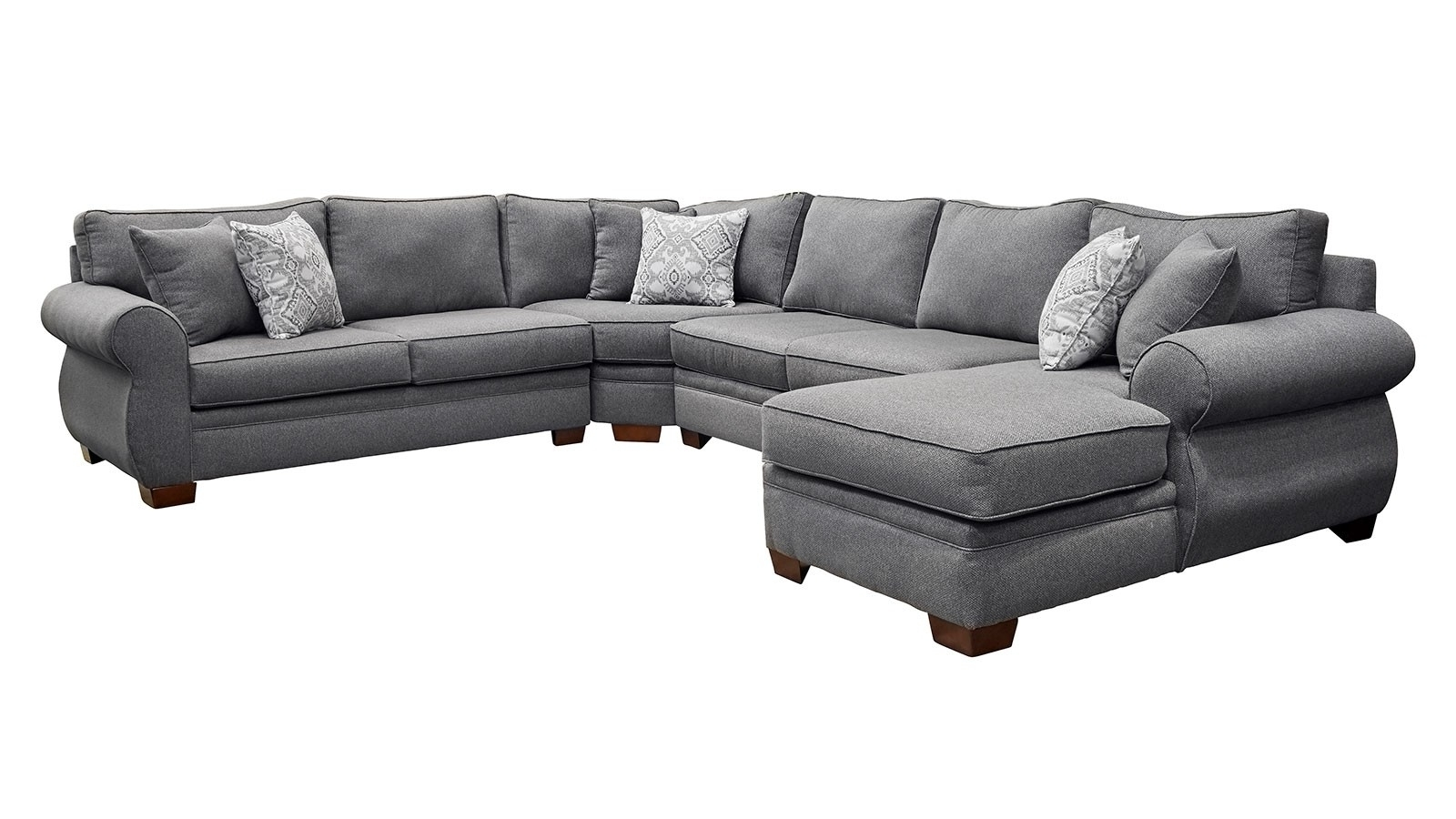 Most Popular Smoke Laf Sectional (View 10 of 15)