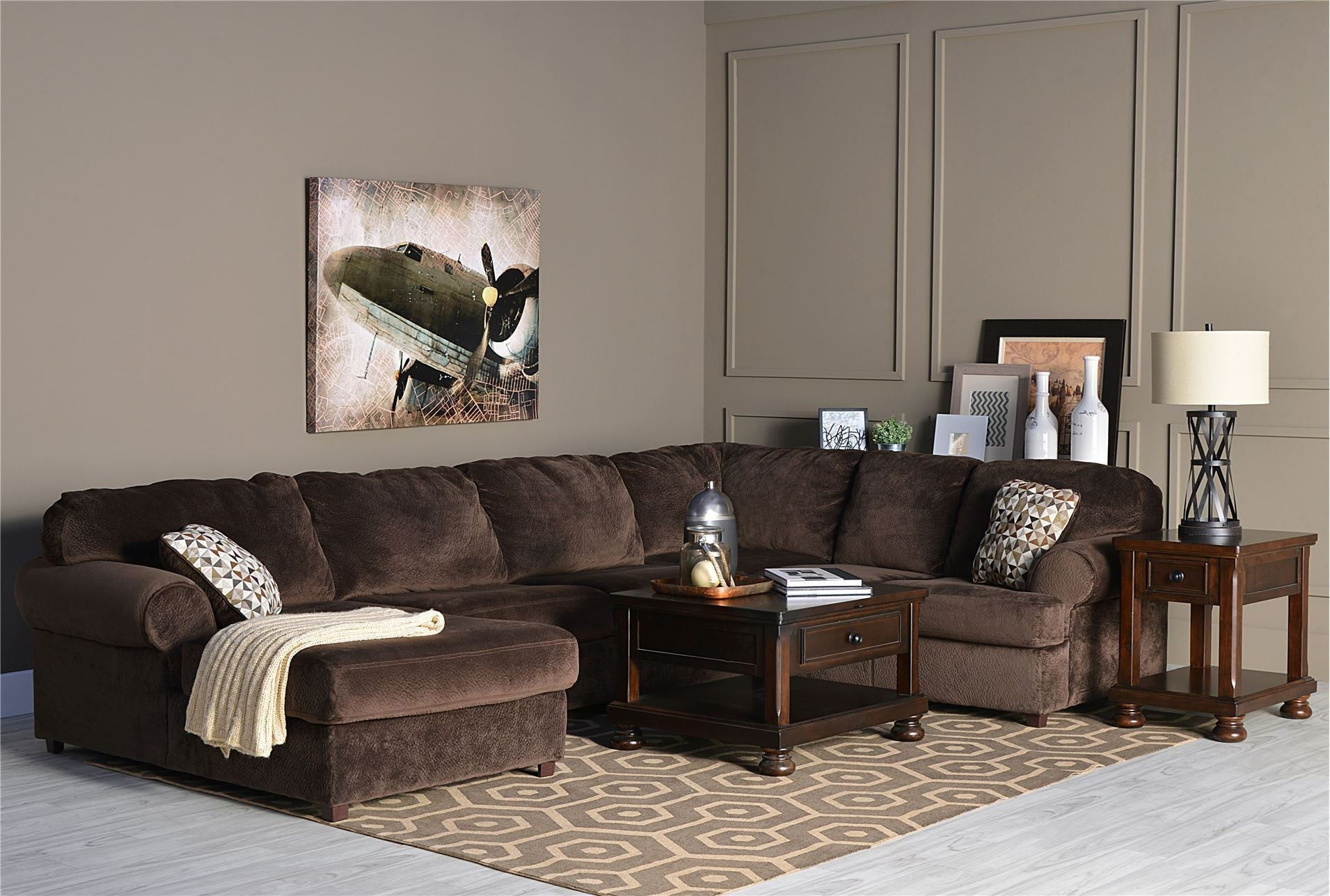 Most Popular Sofa: 3 Piece Sectional Sofa. Small Couch With Chaise (View 14 of 15)