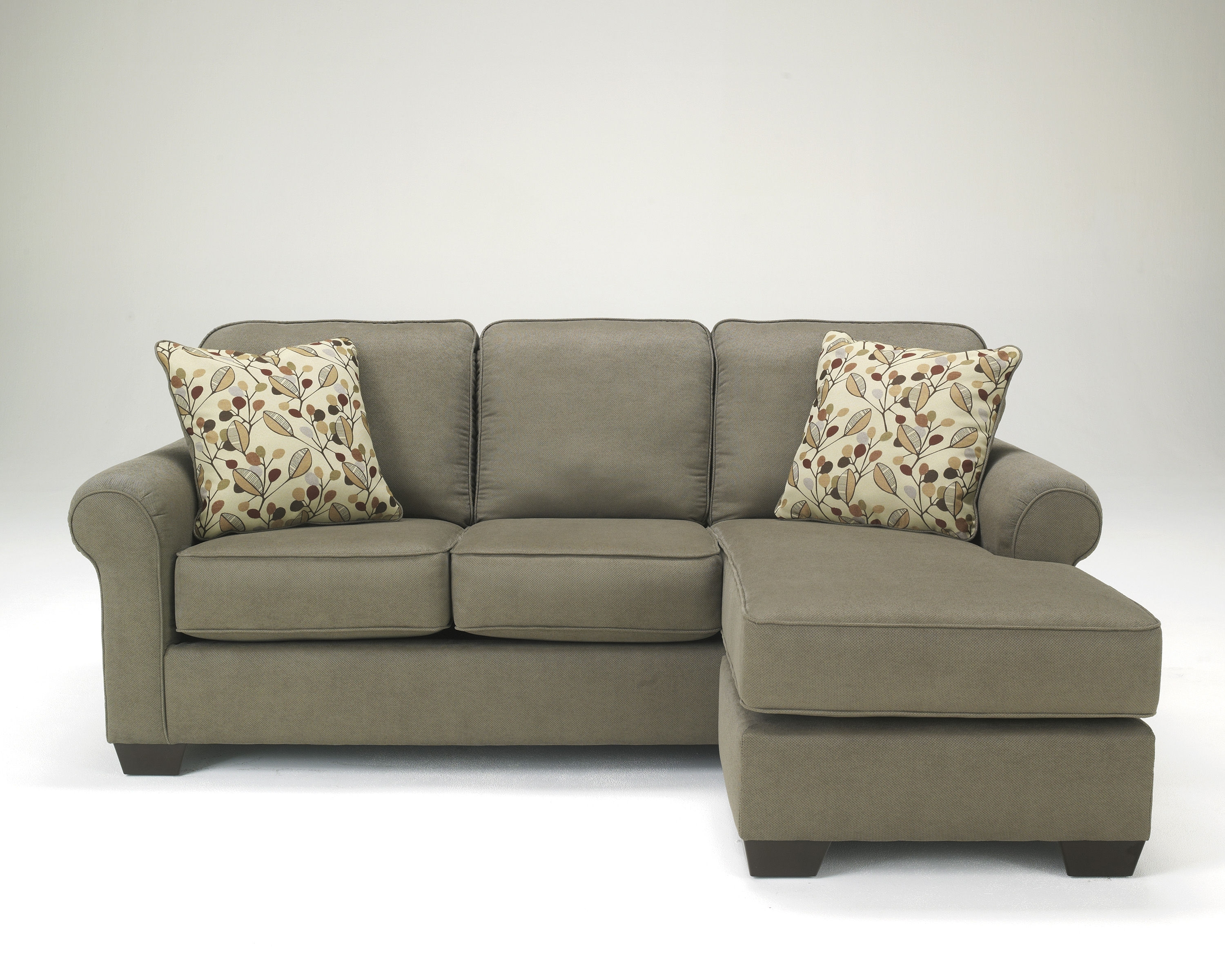 Most Popular Sofas With Chaise Intended For Ashley Furniture Danely Dusk Sofa Chaise Sectional (View 7 of 15)