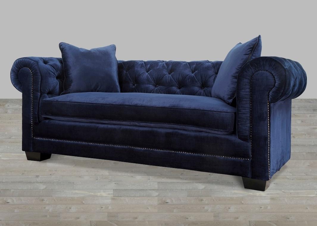 Most Popular Velvet Sofa With Nailheads Pertaining To Velvet Sofas (View 5 of 15)