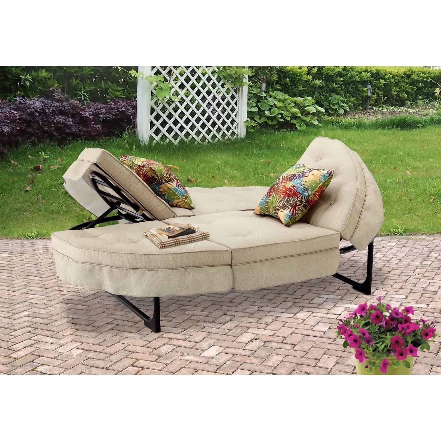Most Popular Walmart Outdoor Chaise Lounges For Cosco Outdoor Adjustable Aluminum Chaise Lounge Chair Serene Ridge (View 6 of 15)