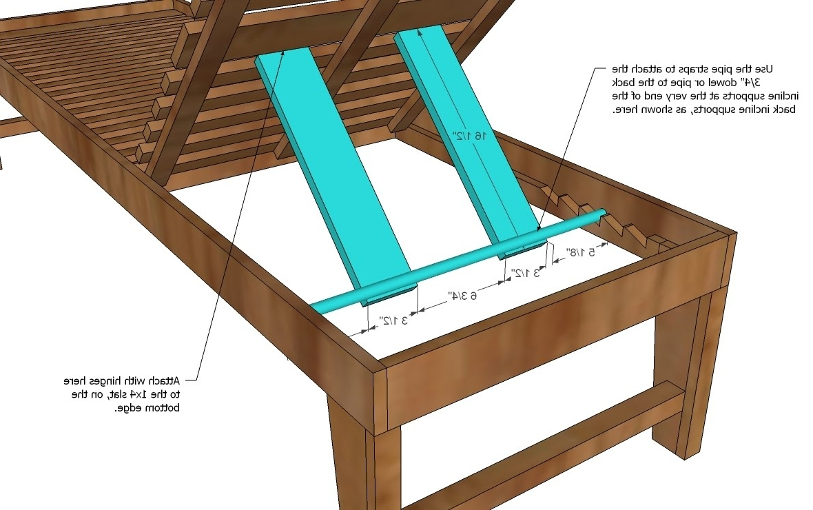 Most Popular Wood Outdoor Chaise Lounges Intended For Wood Chaise Lounge Chair Plans • Lounge Chairs Ideas (View 3 of 15)