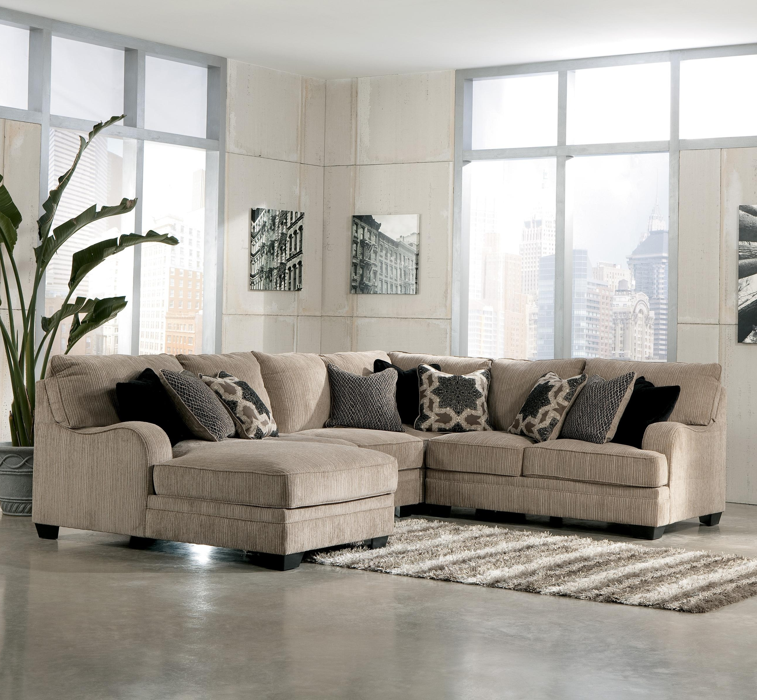 Most Recent 4 Piece Sectional Sofas With Chaise Throughout Signature Designashley Katisha – Platinum 4 Piece Sectional (View 13 of 15)