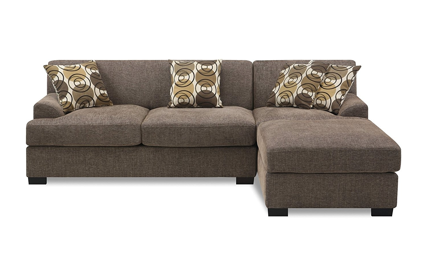 Most Recent Amazon: Poundex Montereal 2 Piece Chaise Love Sectional Pertaining To 2 Piece Sectionals With Chaise (View 11 of 15)