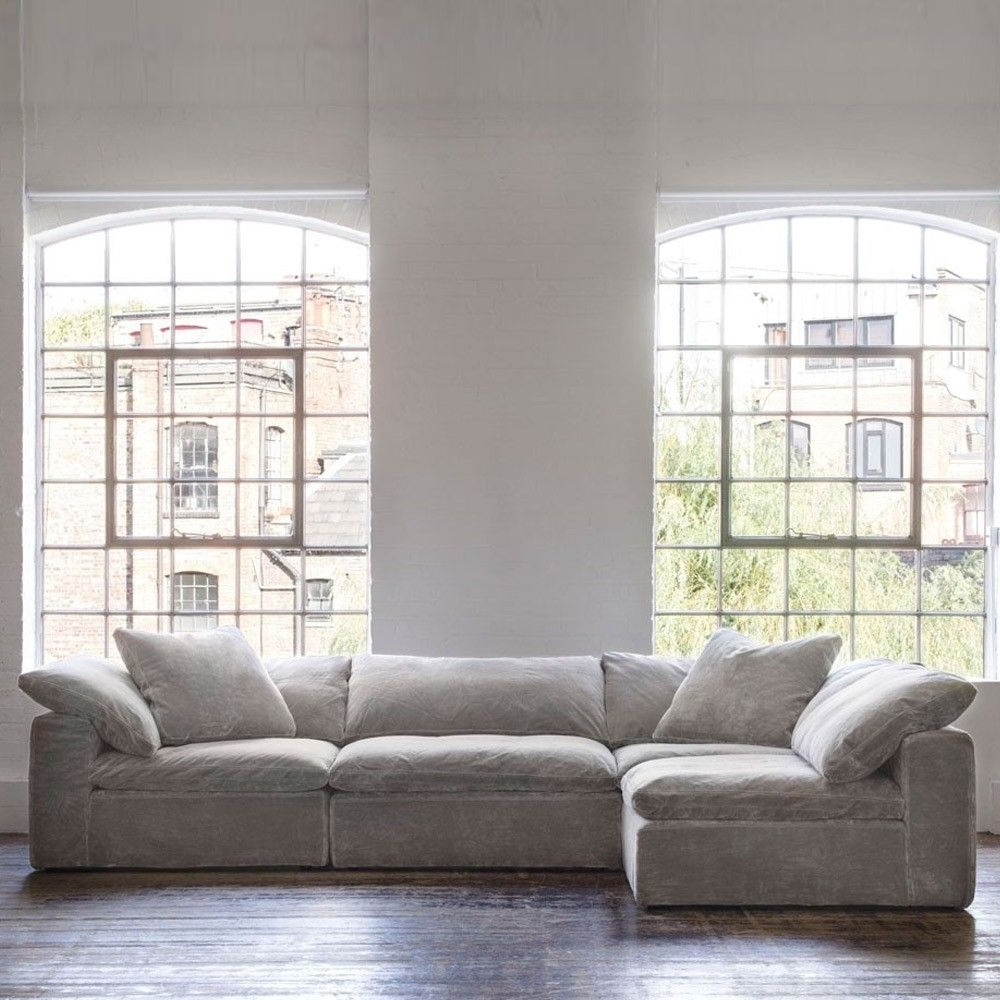 Most Recent Andrew Martin Truman Sectional Sofa Grey Velvet (View 11 of 15)