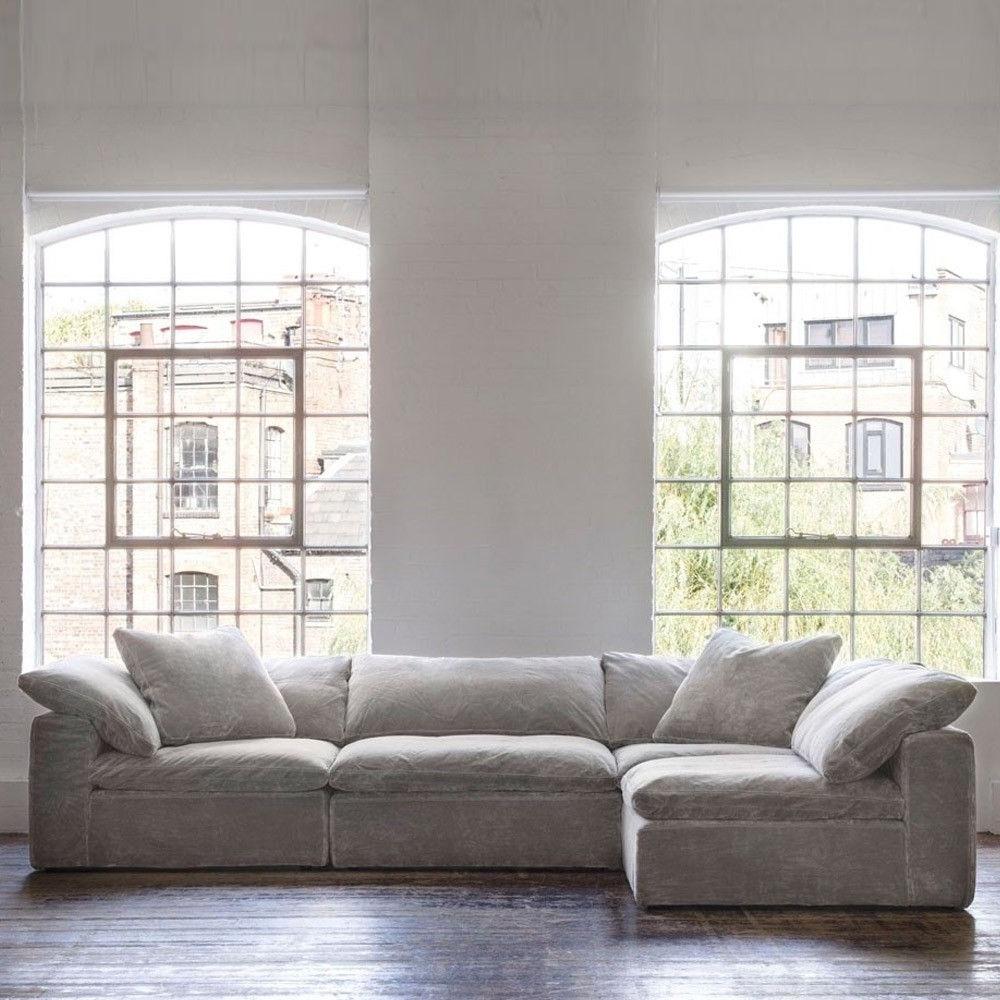 Most Recent Andrew Martin Truman Sectional Sofa Grey Velvet (View 5 of 15)