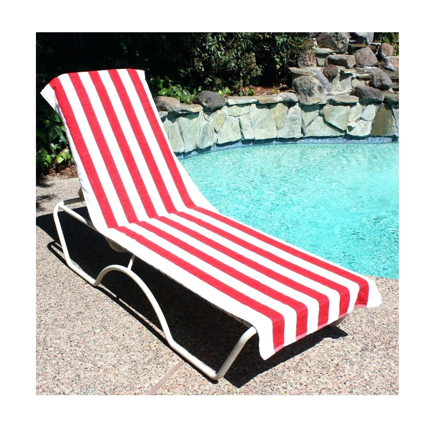 Most Recent Beach Chair Covers Towel Lounge Terry Cloth – Biophilessurf With Regard To Chaise Lounge Towel Covers (View 10 of 15)