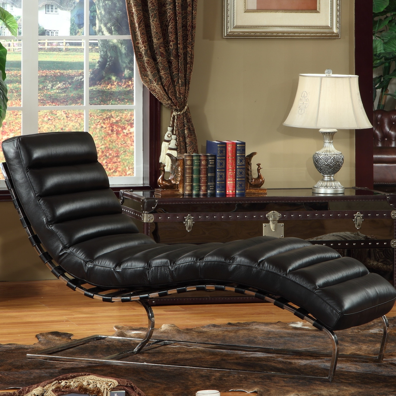 Most Recent Beautiful Leather Chaise Lounge Chair — Lustwithalaugh Design Inside Leather Chaise Lounges (View 11 of 15)