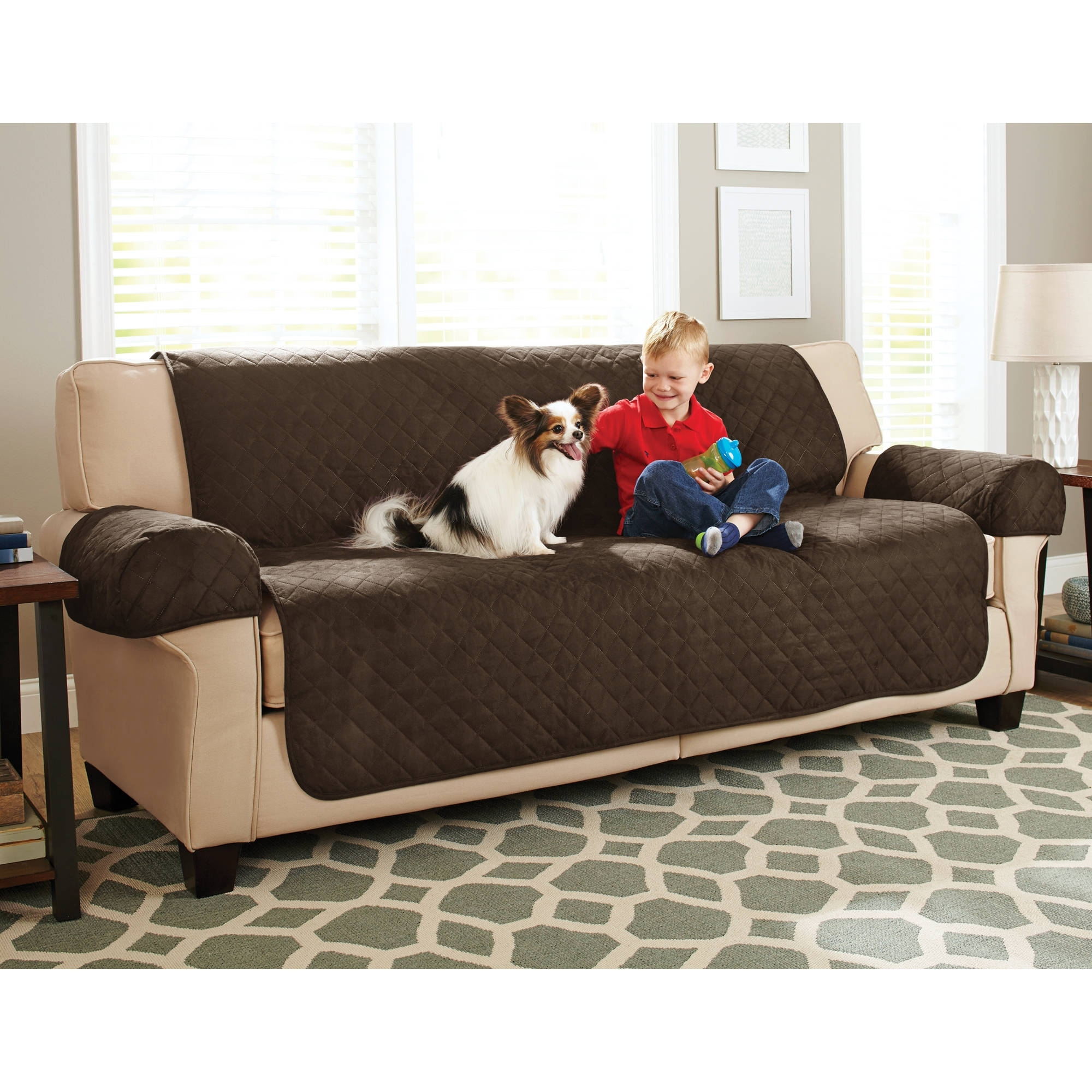 Most Recent Better Homes And Gardens Waterproof Non Slip Faux Suede Pet Inside Sofas With Washable Covers (View 7 of 15)
