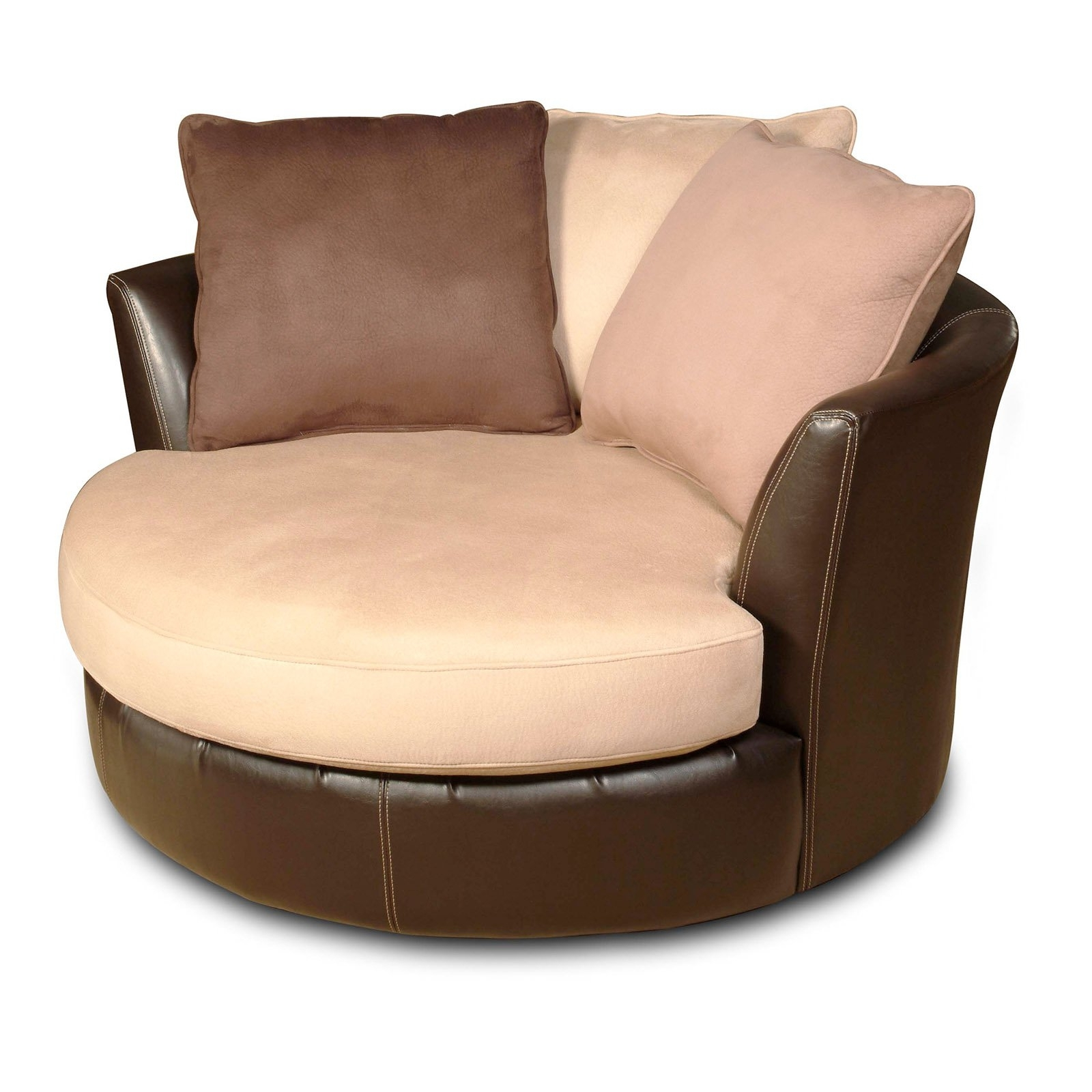 Most Recent Big Round Sofa Chairs With Awesome Round Swivel Sofa Chair Images – Liltigertoo (View 11 of 15)