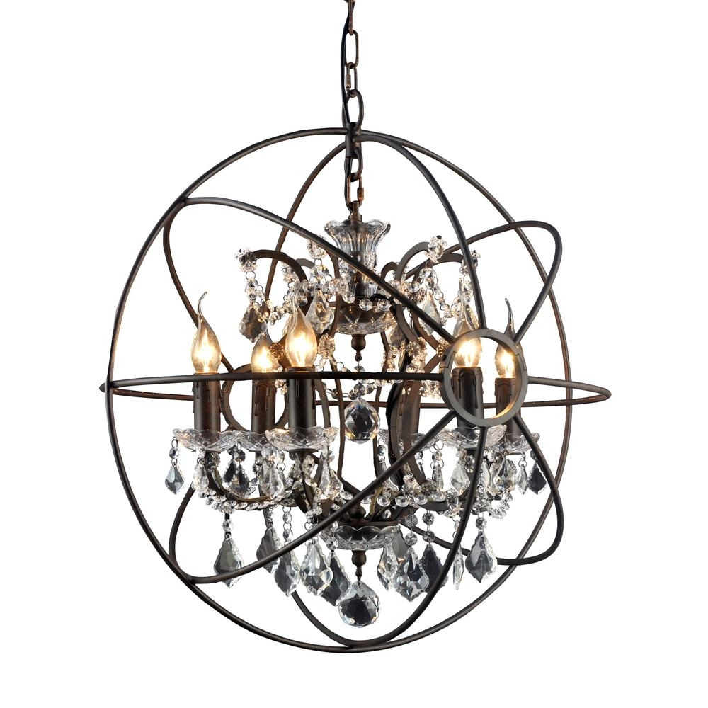 Most Recent Black Chandelier With Y Decor Hannah 6 Light Rustic Black Chandelier Lz2080 6Rr – The Home (View 10 of 15)