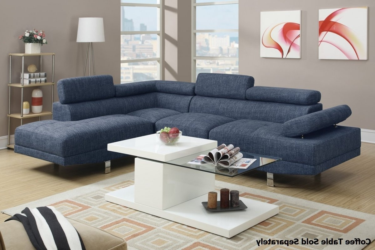 Most Recent Blue Sectional Sofas With Chaise For White Denim Sectional Sofa (View 11 of 15)