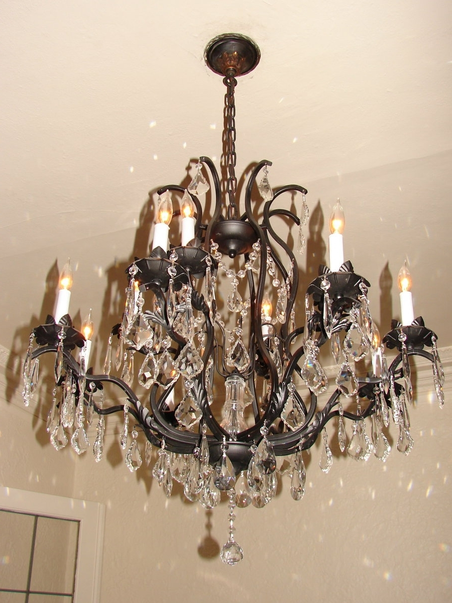 Most Recent Bronze Crystal Chandelierfantasystock On Deviantart For Bronze And Crystal Chandeliers (View 9 of 15)
