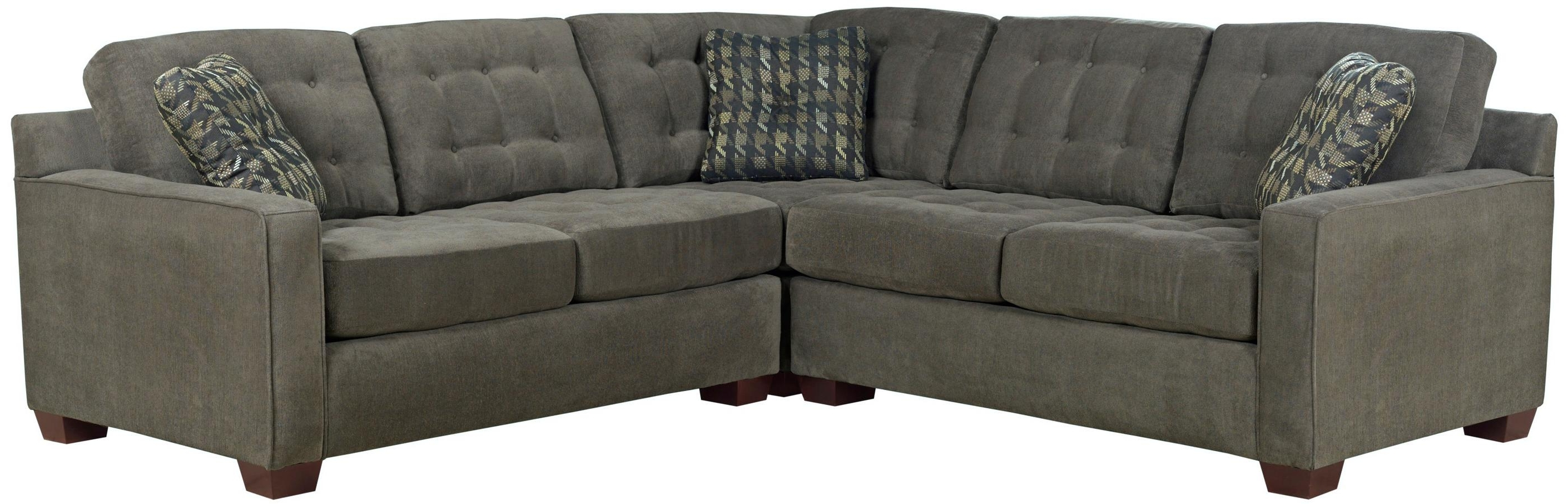 Most Recent Broyhill Sectional Sofas Regarding Broyhill Furniture Tribeca Contemporary L Shaped Sectional Sofa (View 7 of 15)