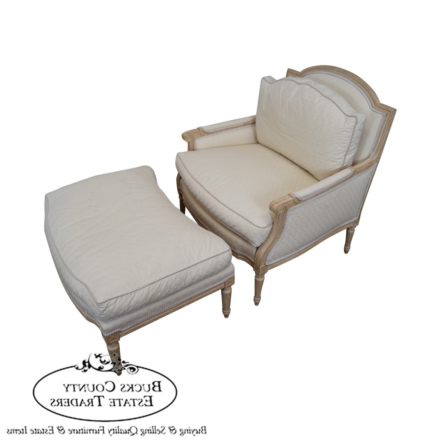 Most Recent Chaise Lounge Chairs With Ottoman Inside Heirloom Furniture French Louis Xv Style Bergere Chaise Lounge (View 4 of 15)