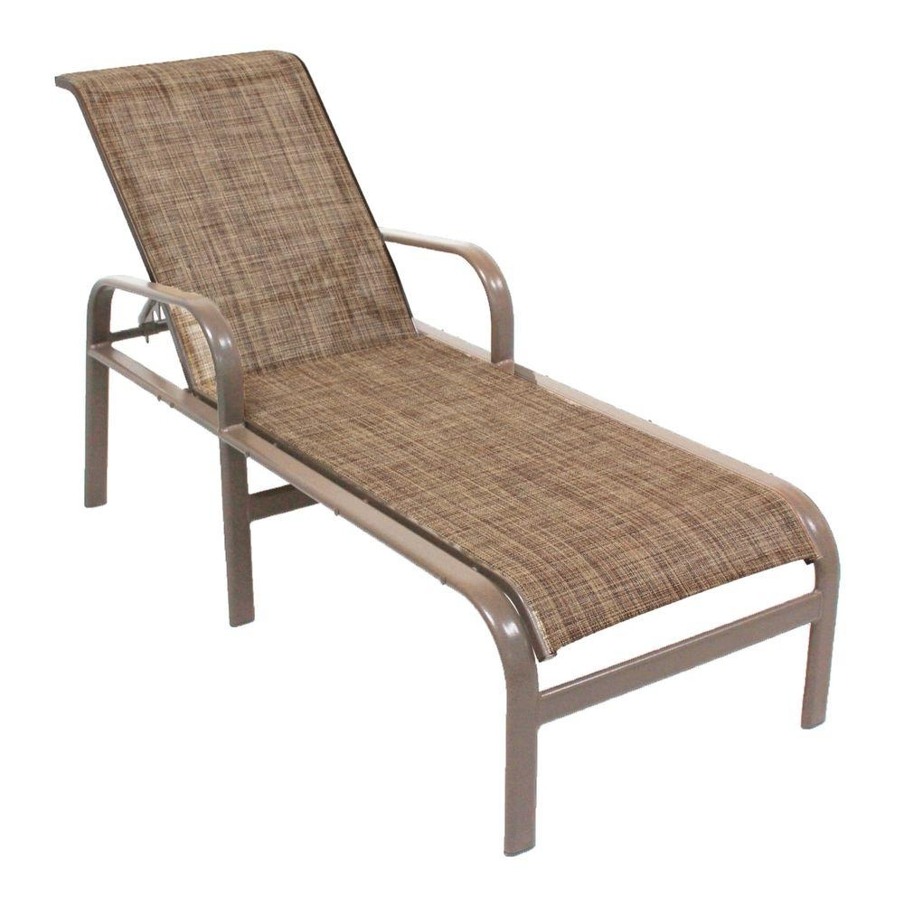 Most Recent Chaise Lounge Sling Chairs With Marco Island Brownstone Commercial Grade Aluminum Patio Chaise (View 11 of 15)