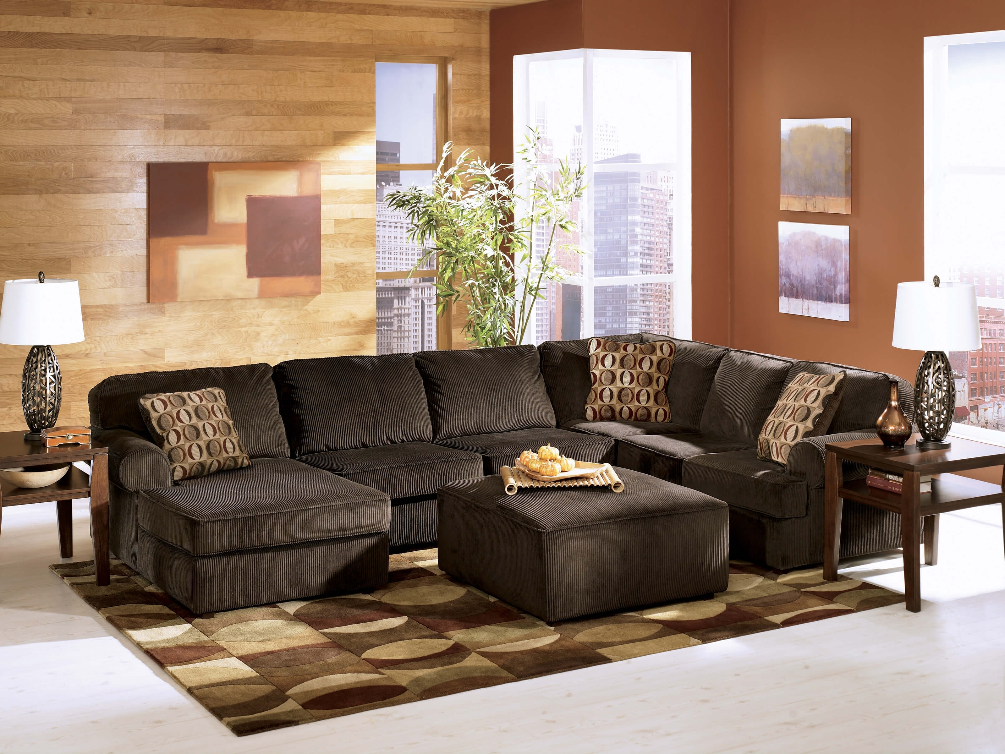 Most Recent Chocolate Sectional Sofas Throughout Vista Chocolate Ashley Sectional (View 8 of 15)