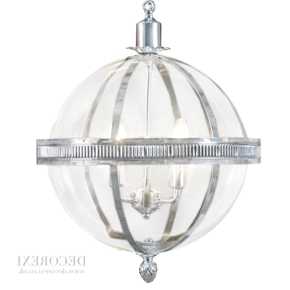 Most Recent Chrome And Glass Chandeliers Throughout Light : Lantern Chandelier Pendant Light Fixtures Style Lighting (View 2 of 15)