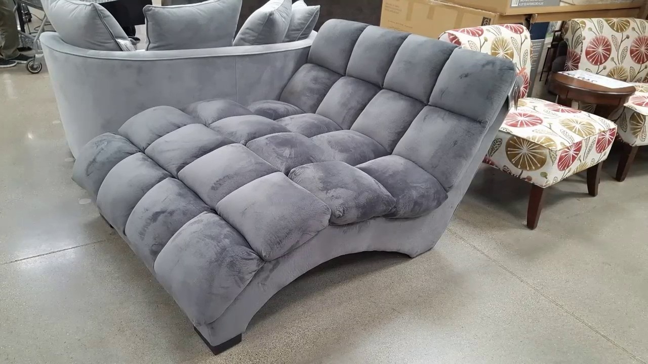 Most Recent Costco! Bainbridge Fabric Microfiber Pillow Chaise Lounger $299 With Costco Chaises (View 2 of 15)