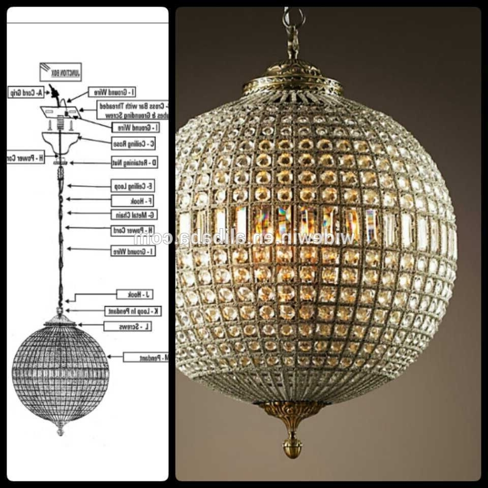 Most Recent Crystal Globe Chandelier Within Chandeliers Design : Fabulous Crystal Globe Chandelier Luxury Ball (View 12 of 15)