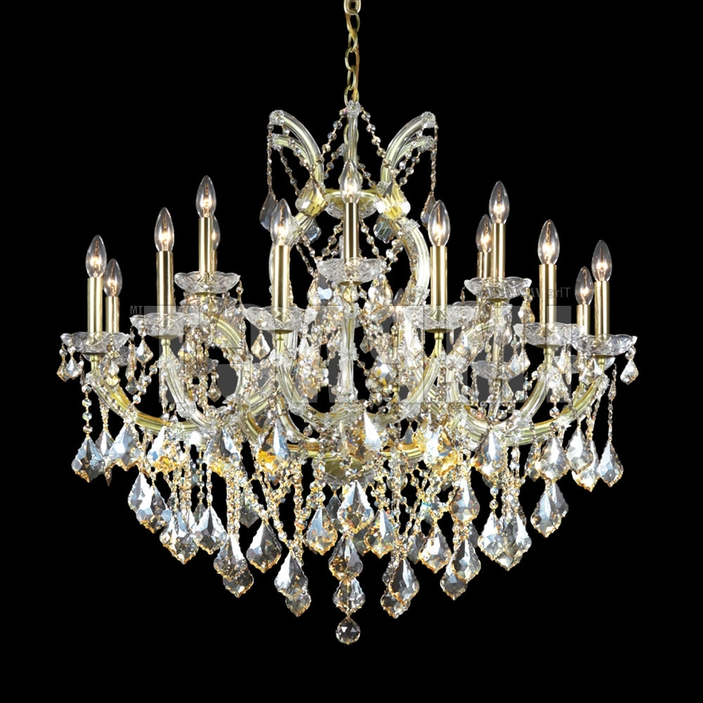 Most Recent Crystal Gold Chandelier In James Moder 40258Gl2Gt Maria Theresa Crystal Gold Lustre Chandelier (View 12 of 15)