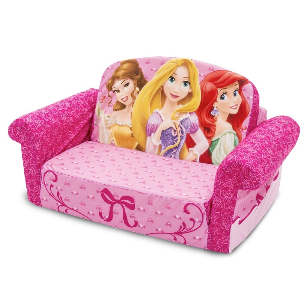 Most Recent Disney Sofa Chairs Throughout Spin Master – Marshmallow Furniture Flip Open Sofa Disney Princess (View 14 of 15)