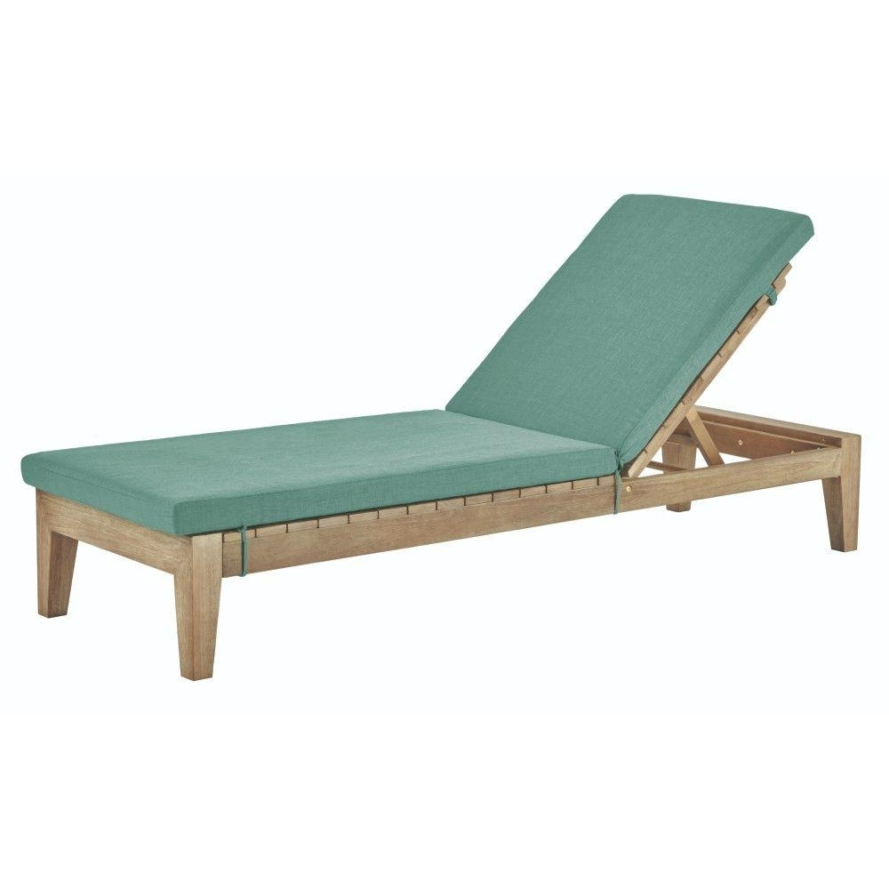 Most Recent Eucalyptus – Outdoor Chaise Lounges – Patio Chairs – The Home Depot In Pvc Outdoor Chaise Lounge Chairs (View 3 of 15)