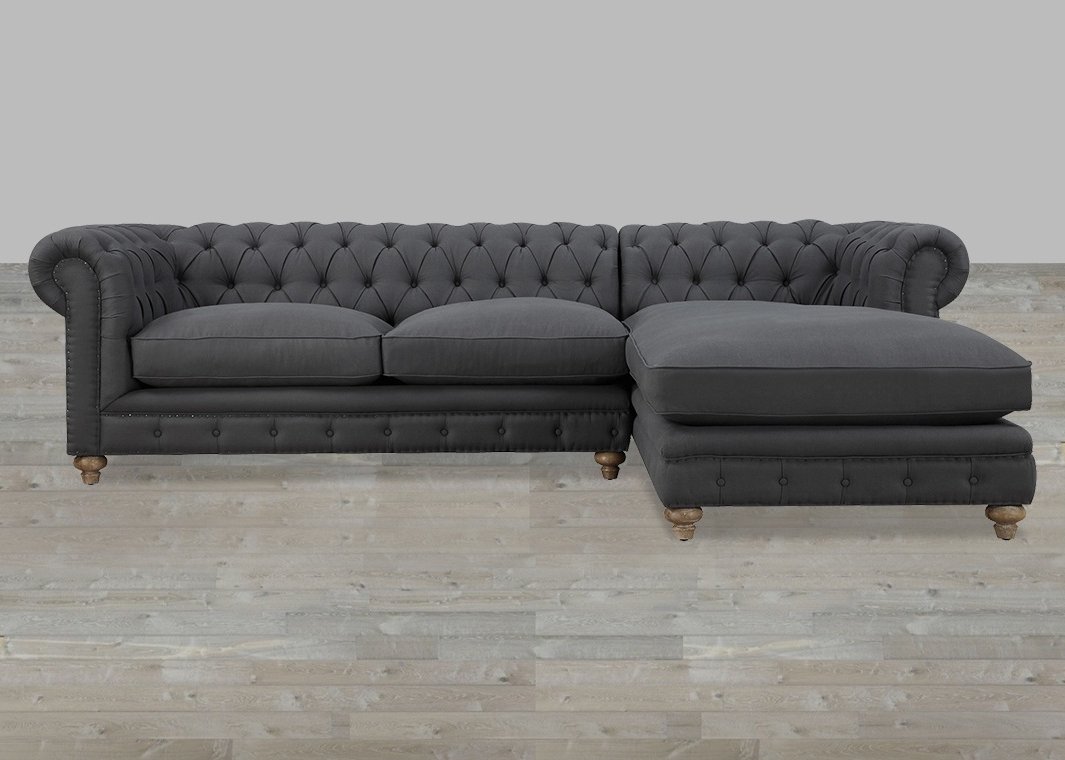 Most Recent Grey Couches With Chaise With Furniture: Comfortable Deep Seat Sectional For Your Living Room (View 10 of 15)