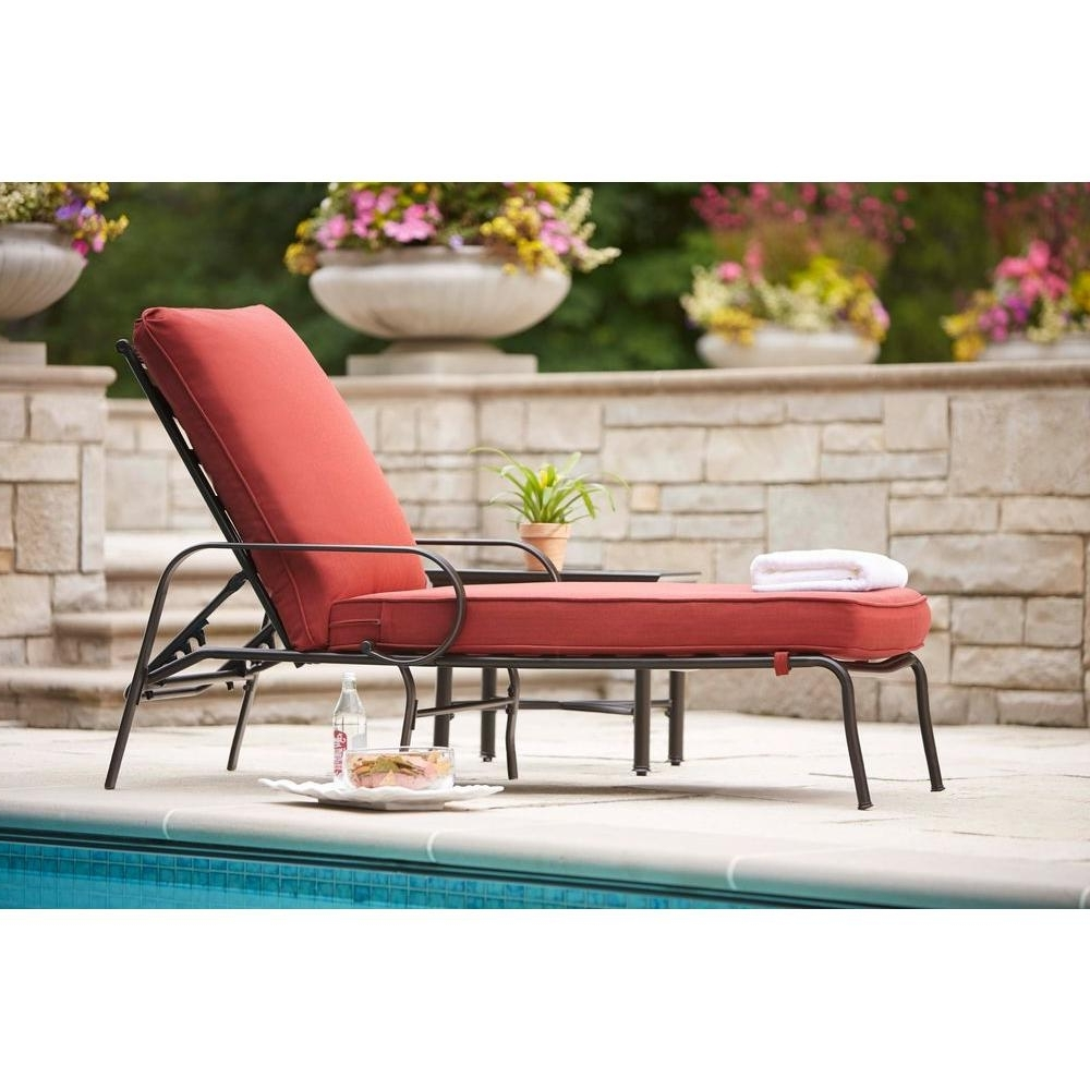 Most Recent Hampton Bay Chaise Lounge Chairs Inside Pool Chaise Lounge Chairs – Stackable Pool Chaise Lounge Chairs (View 11 of 15)