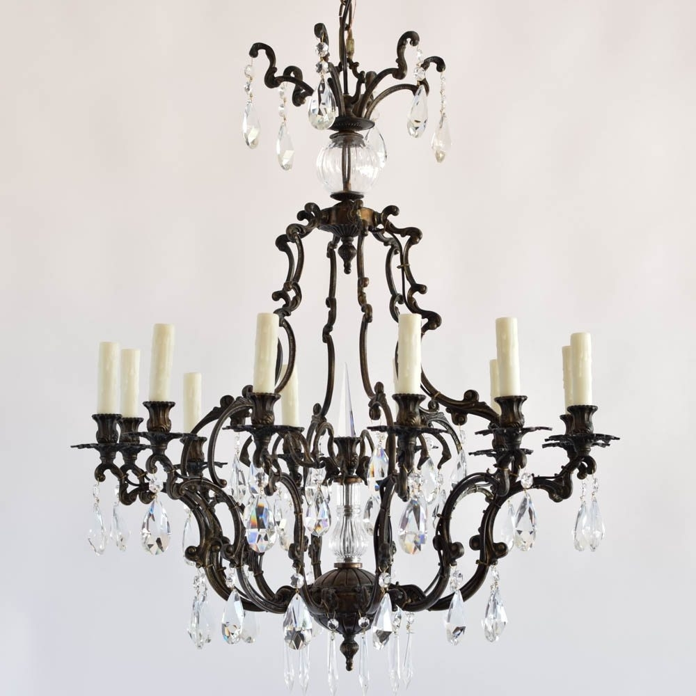 Most Recent Italian Rococo Bronze Chandelier With Crystal – The Big Chandelier In Bronze And Crystal Chandeliers (View 12 of 15)