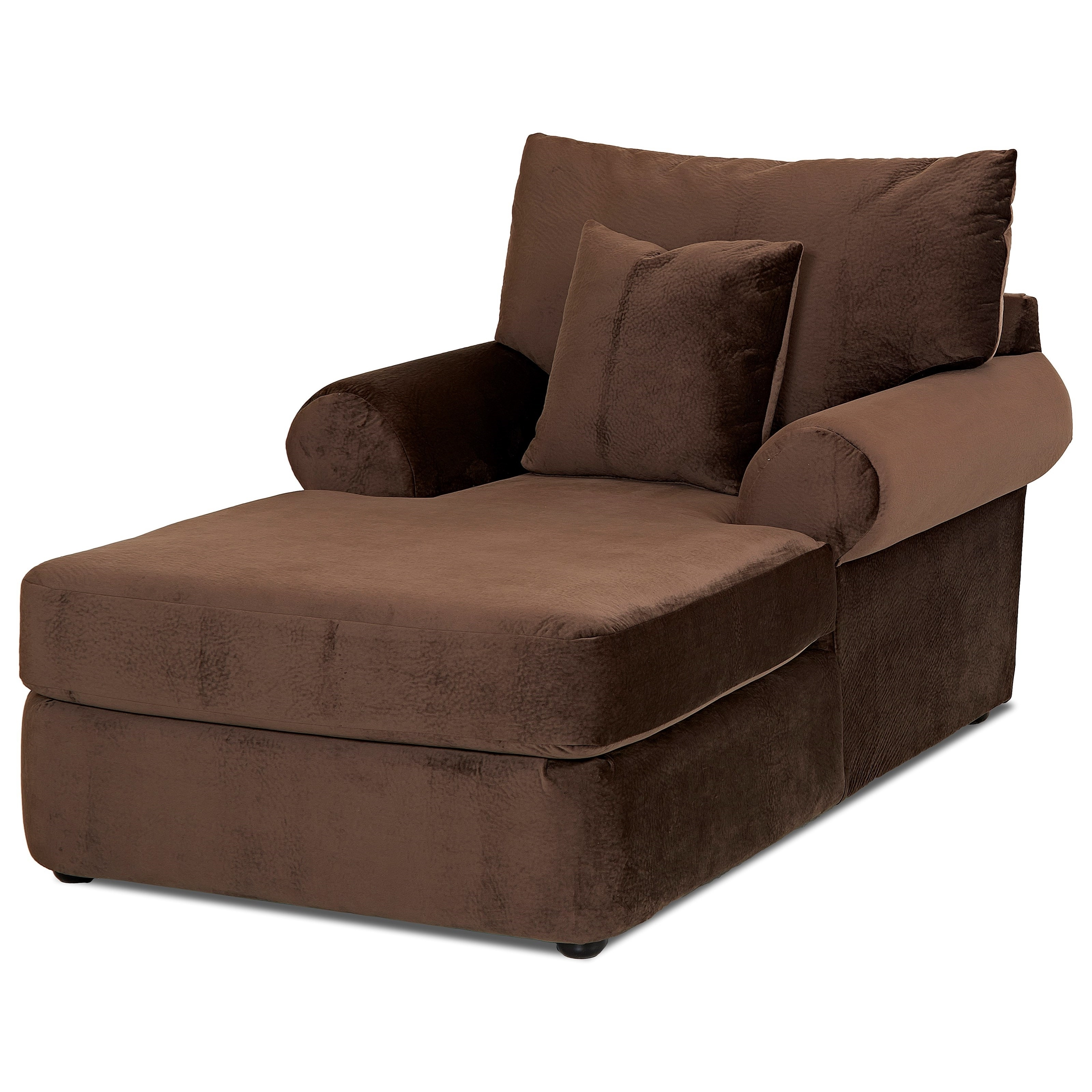 Most Recent Klaussner Chaise Lounge Chairs Regarding Casual Plush Chaise Loungeklaussner (View 11 of 15)