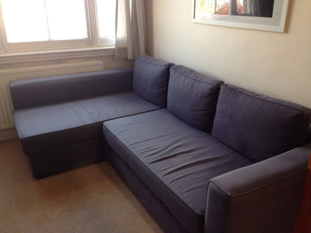 Most Recent L Shaped Ikea Manstad Sofa Bed For Sale (View 13 of 15)